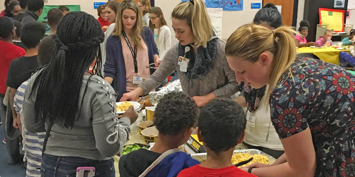 Students Serve at Boys and Girls Club